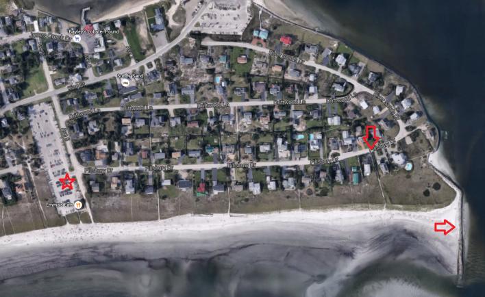 Pine Point Beach Wedding Parking and Wedding Location [Detail]
